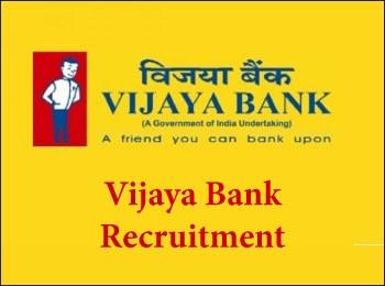""" Vijaya Bank Recruitment 2018 : Recruiting Chief Managers in Vijaya Bank """