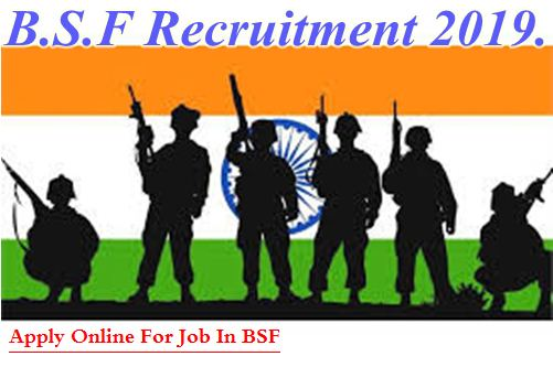 BSF Recruitment 2019 : 1763 Constable Posts