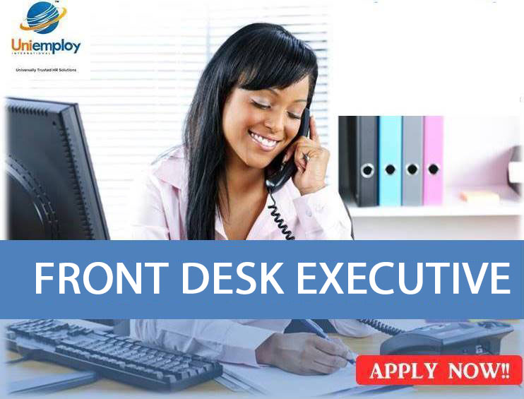 Front Office Executive :  Receptionist Jobs