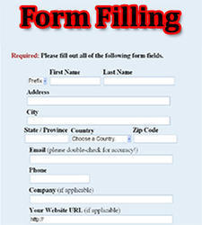 Form Filling Work : Work From Home Salary 20000