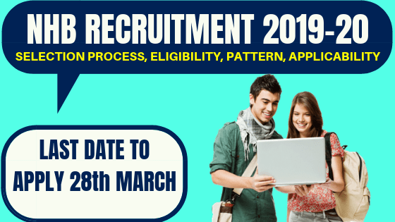 NHB Recruitment 2019 : Assistant Manager Posts