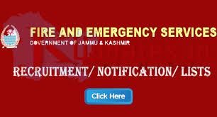 Fire And Emergency Services Recruitment 2019