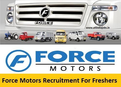 Force Motors Recruitment 2020 - Hiring 500+ Fresher