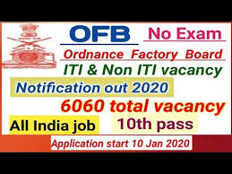 OFB Recruitment 2020 - Recruiting 6060 Trade Apprentices